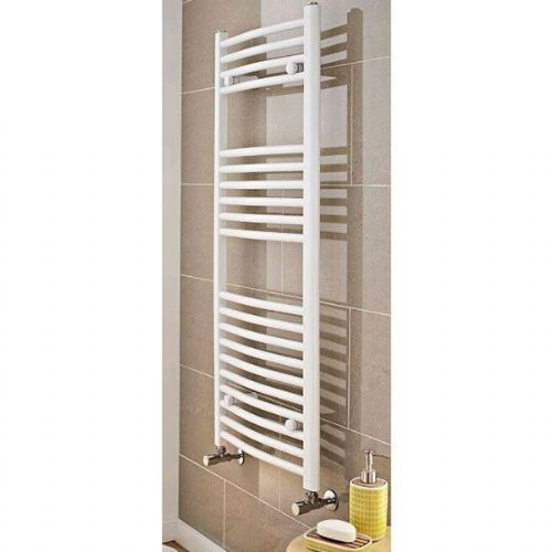 Kartell K-Rail Premium Curved Towel Rail - 400mm x 1300mm- White